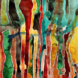 Pittura astratta dell'acquerello Immagine Stock Libera da Diritti