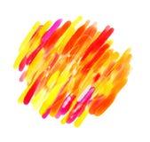 Pittura astratta dell'acquerello illustrazione vettoriale