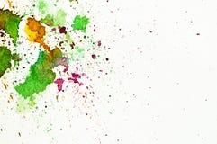 Pittura astratta della mano del water-color Fotografie Stock