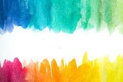 Pittura astratta della mano di arte dell'acquerello su fondo bianco Priorità bassa dell'acquerello illustrazione di stock