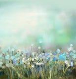 Pittura astratta della pianta del fiore illustrazione vettoriale