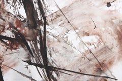 Pittura astratta della spazzola Fotografie Stock