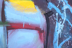 Pittura astratta della spazzola Immagine Stock Libera da Diritti