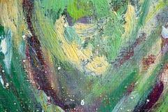 Pittura astratta di colori di olio Fotografia Stock Libera da Diritti