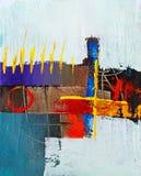Pittura astratta molto piacevole di I nella tela di canapa Fotografia Stock Libera da Diritti