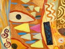 Pittura astratta originale, olio su tela Immagine Stock Libera da Diritti