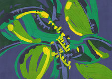 Pittura astratta strutturata immagini stock