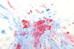 Pittura astratta su bianco Fotografie Stock