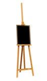 Pittura in bianco e cavalletto di legno Immagine Stock Libera da Diritti