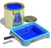Pittura blu Immagine Stock