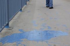 Pittura blu Immagini Stock Libere da Diritti