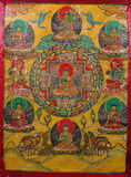 Pittura buddista Immagini Stock Libere da Diritti