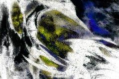 Pittura caotica astratta dall'olio su tela, illustrazione, backg Fotografie Stock Libere da Diritti