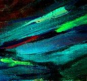 Pittura caotica astratta dall'olio su tela, illustrazione, backg Fotografia Stock Libera da Diritti