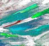Pittura caotica astratta dall'olio su tela, illustrazione, backg Immagini Stock Libere da Diritti