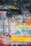 Pittura casuale di struttura del fondo sulla parete Immagine Stock
