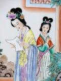 Pittura cinese antica Fotografia Stock Libera da Diritti