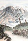 Pittura cinese dell'alta montagna Fotografia Stock