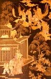 Pittura cinese della coltura nell'arte tailandese di tradtional Fotografia Stock Libera da Diritti