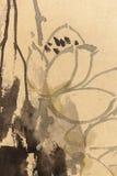 Pittura cinese sulla carta, locale fotografia stock libera da diritti