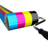 Pittura CMYK della spazzola fotografie stock