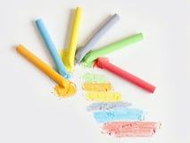 Pittura colorata del gesso Fotografia Stock Libera da Diritti