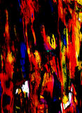 Pittura colorata nera ed audace spalmata spesso Immagini Stock