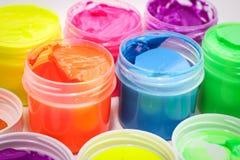 Pittura colorata per disegnare Fotografia Stock