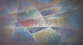 Pittura Colourful di forme geometriche royalty illustrazione gratis