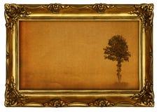 Pittura con l'albero Fotografia Stock