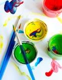 Pittura con le dita Fotografia Stock Libera da Diritti