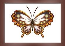 Pittura con le farfalle Fotografia Stock