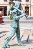 pittura 3d e sculture illusionary sul quadrato principale del mercato, Wi Immagine Stock