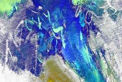Pittura dall'olio su una tela, fondo, illustrazione Fotografie Stock