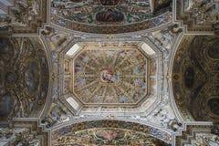 Pittura decorativa ricca del soffitto Fotografia Stock