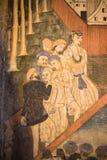 Pittura degli stranieri del secolo 18 nel Nord della Tailandia Fotografia Stock