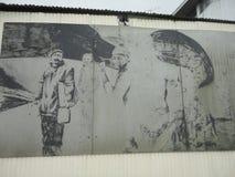Pittura degli uomini nella Terra del Fuoco Fotografia Stock Libera da Diritti