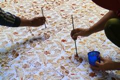 Pittura del batik Fotografia Stock Libera da Diritti