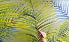 Pittura del batik della mano Immagini Stock