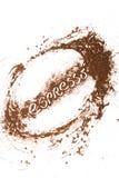 Pittura del caffè macinato fotografia stock libera da diritti