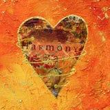 Pittura del collage del cuore Fotografie Stock
