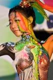 Pittura del corpo di Samui Fotografia Stock