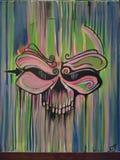 Pittura del cranio Immagine Stock