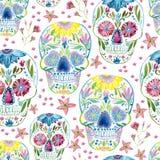Pittura del cranio dello zucchero royalty illustrazione gratis