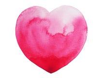 Pittura del cuore, pittura dell'acquerello, progettazione dell'illustrazione Fotografia Stock Libera da Diritti
