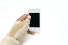 Pittura del dito di innesco Immagini Stock