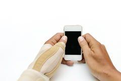 Pittura del dito di innesco Fotografia Stock