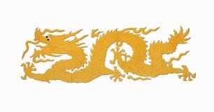 Pittura del drago dell'oro Immagini Stock Libere da Diritti