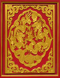 Pittura del drago sulla parete del tempio Fotografie Stock