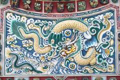 Pittura del drago in tempiale cinese Fotografie Stock